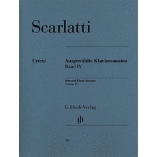 Henle Urtext Editions Scarlatti - Selected Piano Sonatas, Volume IV