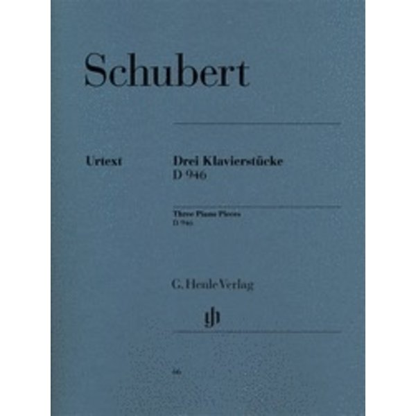 Henle Urtext Editions Schubert - 3 Famous Pieces - Impromptus