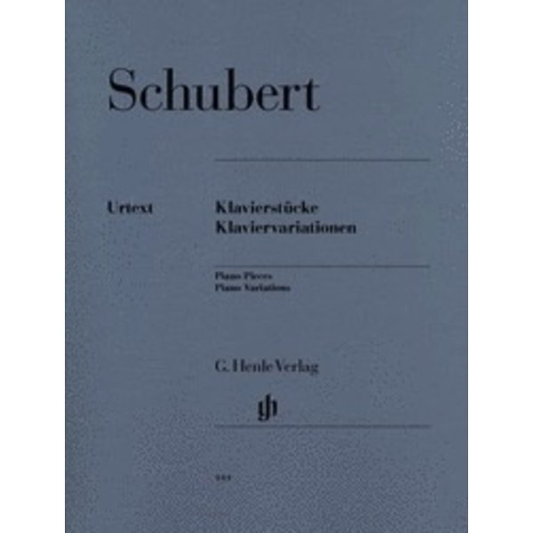 Henle Urtext Editions Schubert - Piano Pieces - Piano Variations