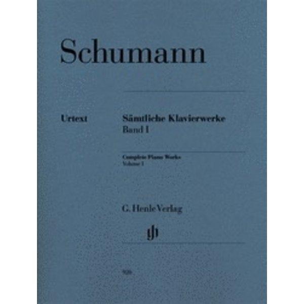 Henle Urtext Editions Schumann - Complete Piano Works - Volume 1