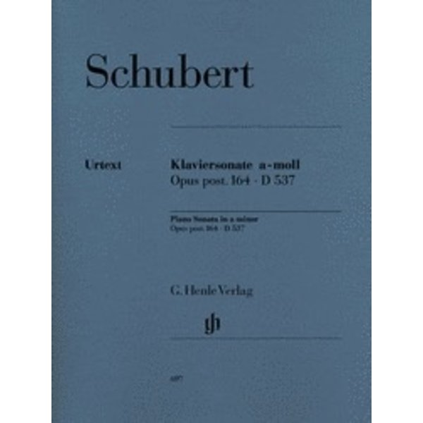 Henle Urtext Editions Piano Sonata A Minor Op. Posth. 164 D 537