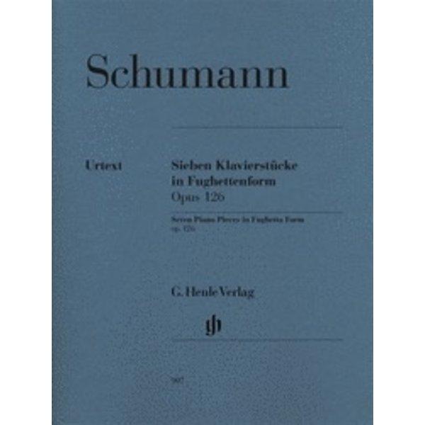 Henle Urtext Editions Schumann - 7 Piano Pieces in Fughetta Form, Op. 126