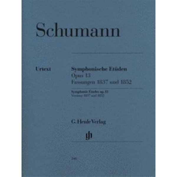 Henle Urtext Editions Schumann - Symphonic Etudes Op. 13 (Early, Late, and 5 Posthumous Versions)