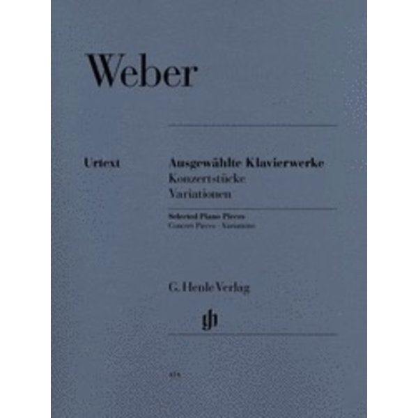 Henle Urtext Editions Weber - Selected Piano Works (Concert Pieces, Variations)