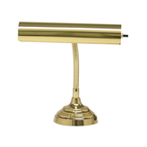 House of Troy Advent Polished Brass Piano Lamp w/Gooseneck