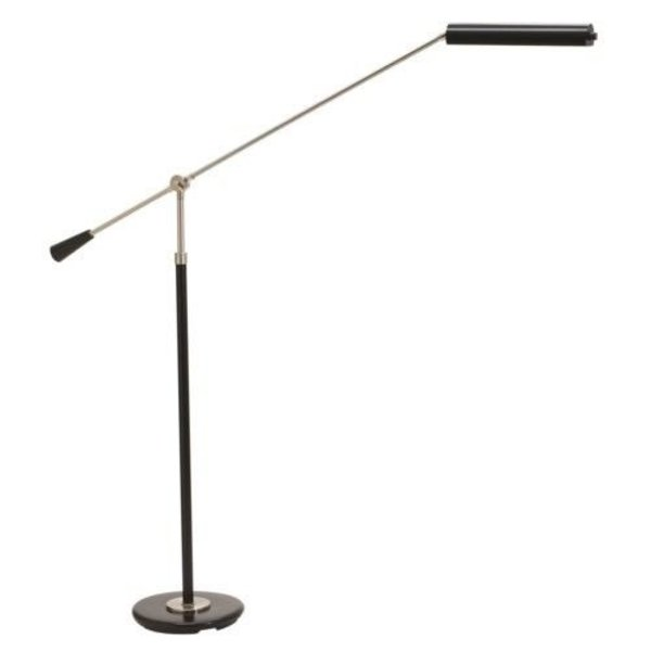 House of Troy LED Black and Satin Nickel Grand Piano Floor Lamp