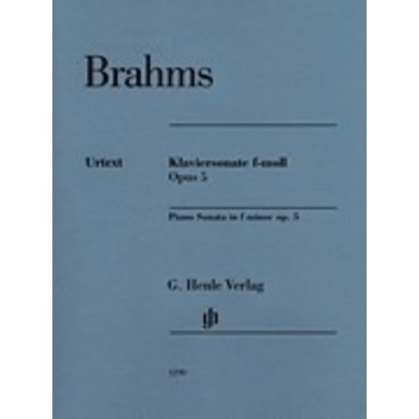 Henle Urtext Editions Brahms - Piano Sonata in F Minor, Op. 5