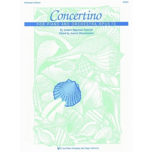 Kjos CONCERTINO FOR PIANO AND ORCHESTRA, OP. 73