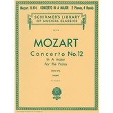 Schirmer Mozart - Concerto No. 12 in A, K.414