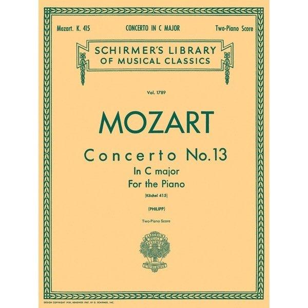 Schirmer Mozart - Concerto No. 13 in C, K. 415