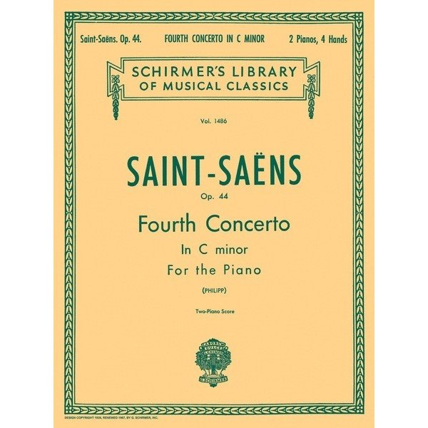 Schirmer Saint-Saëns - Concerto No. 4 in C Minor, Op. 44