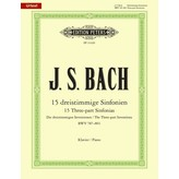 Edition Peters Bach - 15 Three-Part Inventions (Sinfonias) BWV 787-801