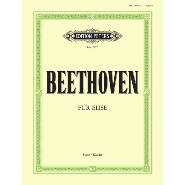 "Edition Peters Beethoven - Bagatelle WoO 59 ""Für Elise"""