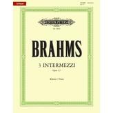 Edition Peters Brahms - 3 Intermezzi Op.117