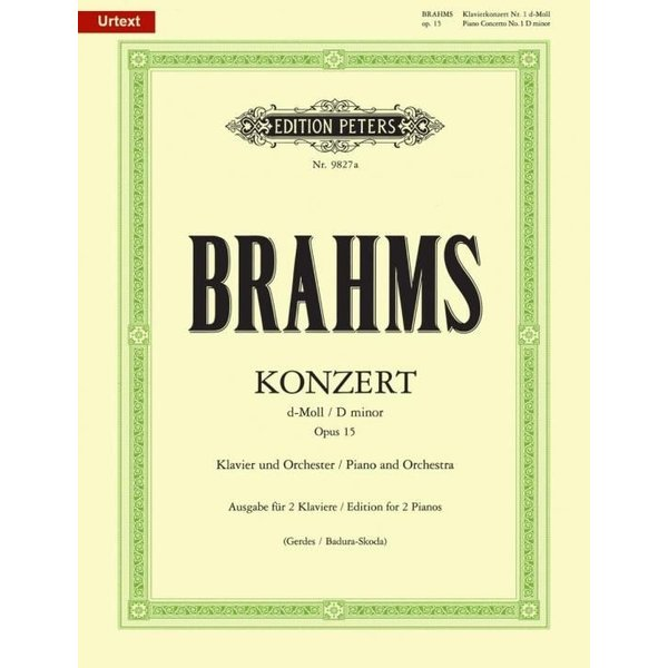 Edition Peters Brahms - Piano Concerto No. 1 Op. 15