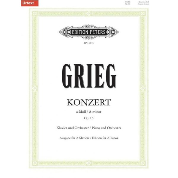 Edition Peters Grieg - Concerto in A minor Op. 16