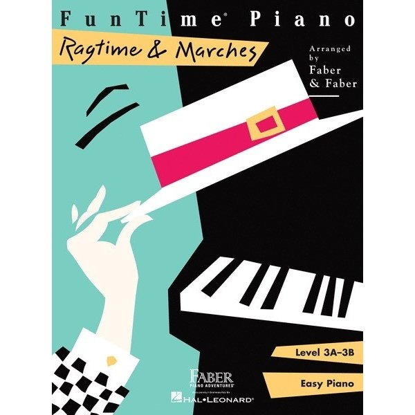 Faber Piano Adventures FunTime Piano - Ragtime & Marches Level 3A-3B
