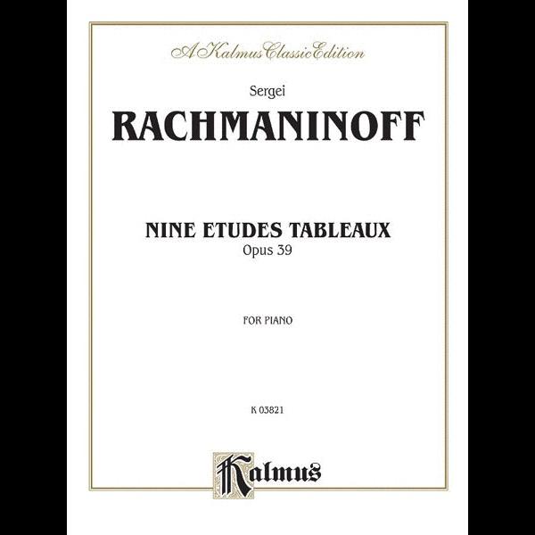 Kalmus Rachmaninoff - Etudes Tableaux, Op. 39