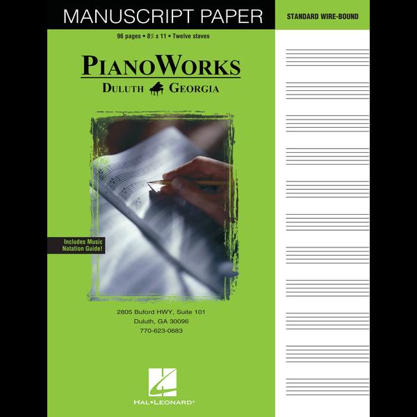 Hal Leonard PianoWorks Standard Wire-Bound Manuscript Paper