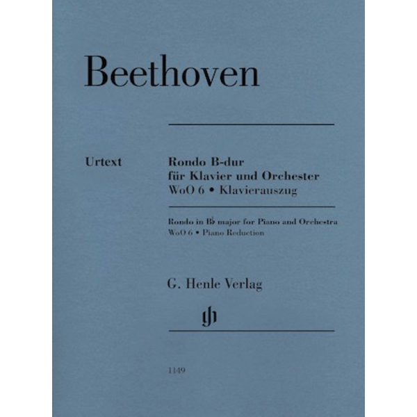 Henle Urtext Editions Beethoven - Rondo in B-flat Major WoO 6