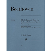 Henle Urtext Editions Beethoven - Piano Concerto D Major Op. 61a After the Violin Concerto