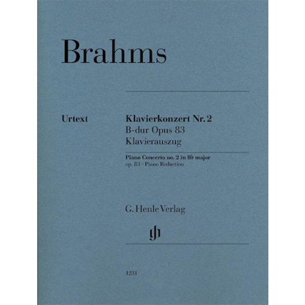Henle Urtext Editions Brahms - Piano Concerto No. 2 in B-flat Major, Op. 83