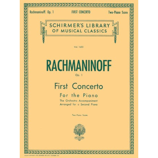 Schirmer Rachmaninoff - First Concerto for the Piano in F# Minor, Op. 1