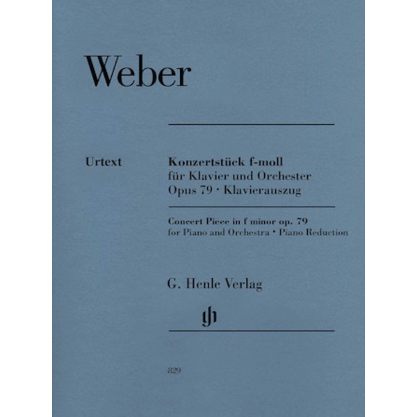 Henle Urtext Editions Weber - Concert Piece for Piano and Orchestra in F minor, Op. 79