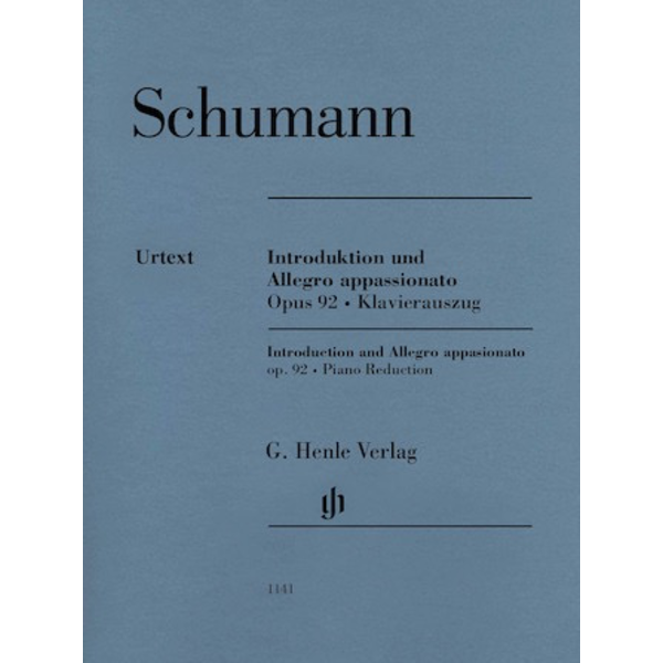 Henle Urtext Editions Schumann - Introduction and Allegro Appassionato for Piano and Orchestra, Op. 92