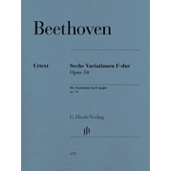 Hal Leonard Beethoven - Six Variations in F Major Op. 34