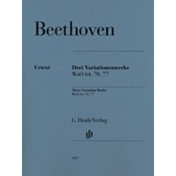 Henle Urtext Editions Beethoven - 3 Variation Sets: WoO 70, 64, 77