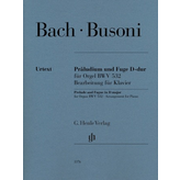Henle Urtext Editions Bach/Busoni - Prelude and Fugue in D Major