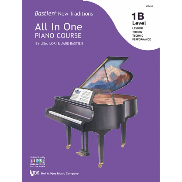Kjos Bastien New Traditions: All In One Piano Course - Level 1B