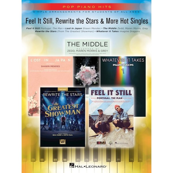 Hal Leonard FEEL IT STILL, REWRITE THE STARS & MORE HOT SINGLES - Pop Piano Hits