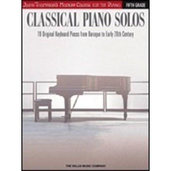 Willis Music Company Classical Piano Solos – Fifth Grade