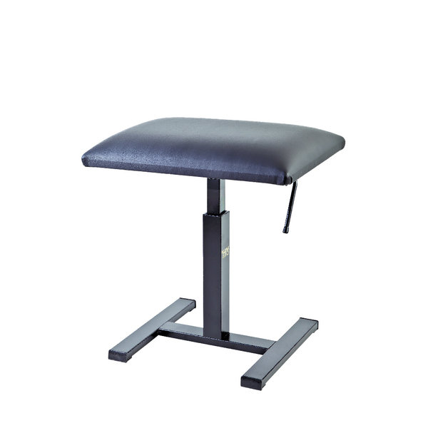 "Hidrau Model Hidrau Model 20"" Hydraulic Adjustable Piano Stool Black Vinyl"