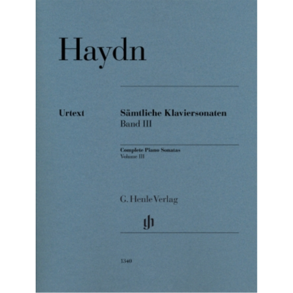 Henle Urtext Editions Haydn - Complete Piano Sonatas, Volume III (Revised)