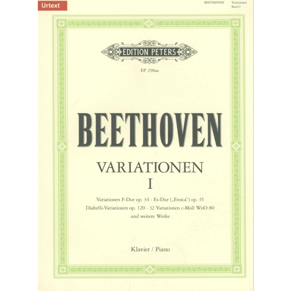 Edition Peters Beethoven - Variations (complete) Vol.1