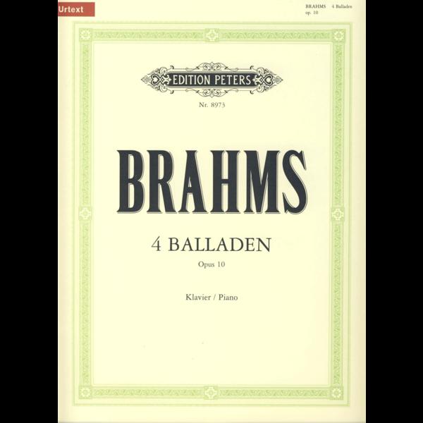Edition Peters Brahms - 4 Ballades Op.10