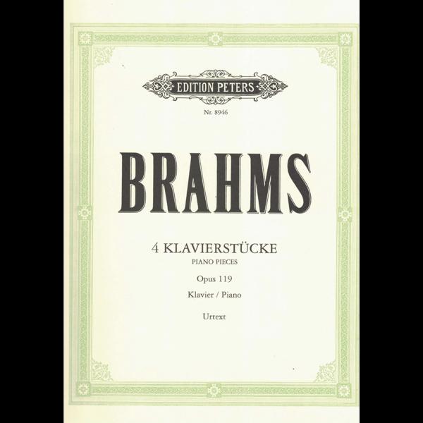 Edition Peters Brahms - 4 Pieces Op.119