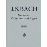 Henle Urtext Editions Bach - Fantasies, Preludes and Fugues Hardcover w/ fingering