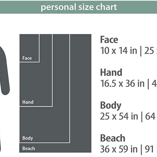 PACKTOWL PT Personal BODY Tidal Blue