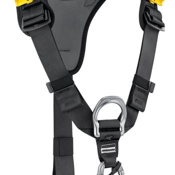 Petzl TOP CROLL chest harness BLACK/YELLOW