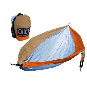 Eagles Nest Outfitters (ENO) SingleNest Hammock (color: Powder / Orange / Tan)