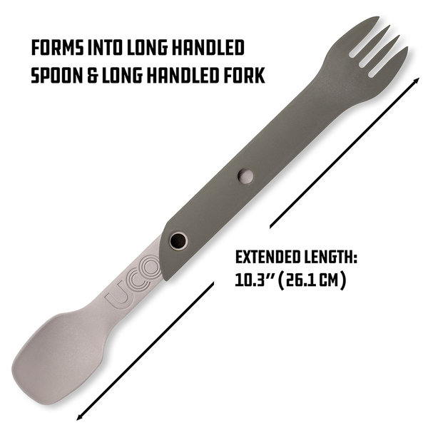 UCO Switch Spork Utensil Set with Tether Peggable Card Sand Stone O/S