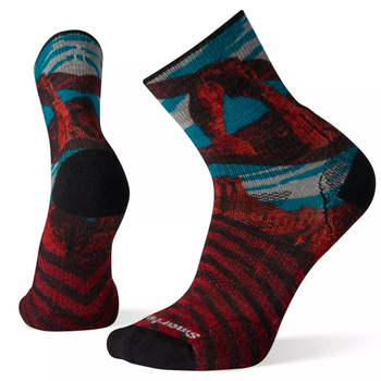 Smartwool PhD Outdoor Light Achs Print Mid Crew WHITE L