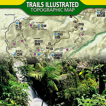 NATIONAL GEOGRAPHIC El Yunque National Forest, PR Trails Illustrarted Topographic Map