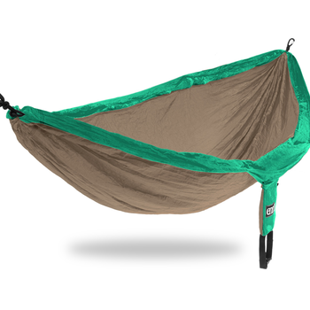 Eagles Nest Outfitters (ENO) DoubleNest Hammock  Emerald/Khaki