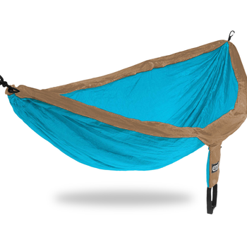 Eagles Nest Outfitters (ENO) DoubleNest Hammock   Teal/Khaki