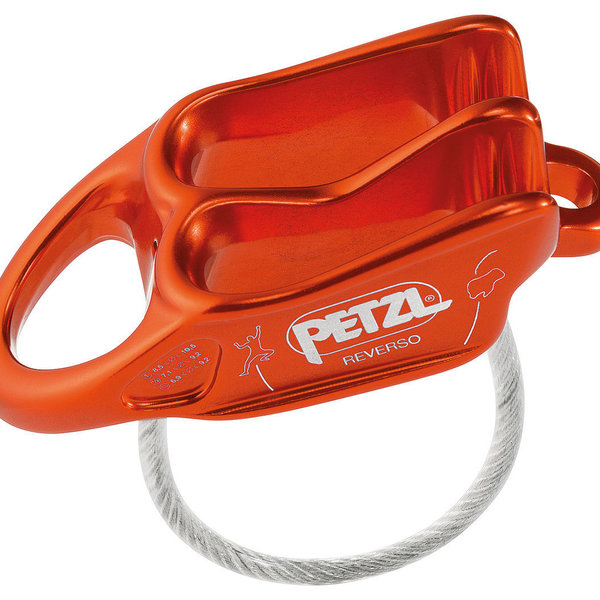 Petzl REVERSO BELAY DEVICE RED